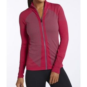 Fabletics Pink Compression Nora Zip Up Sweatshirt